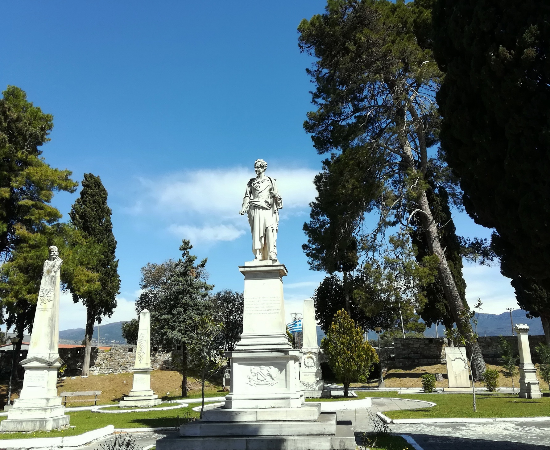 Heroes of the Greek War of Independence are honored in this garden