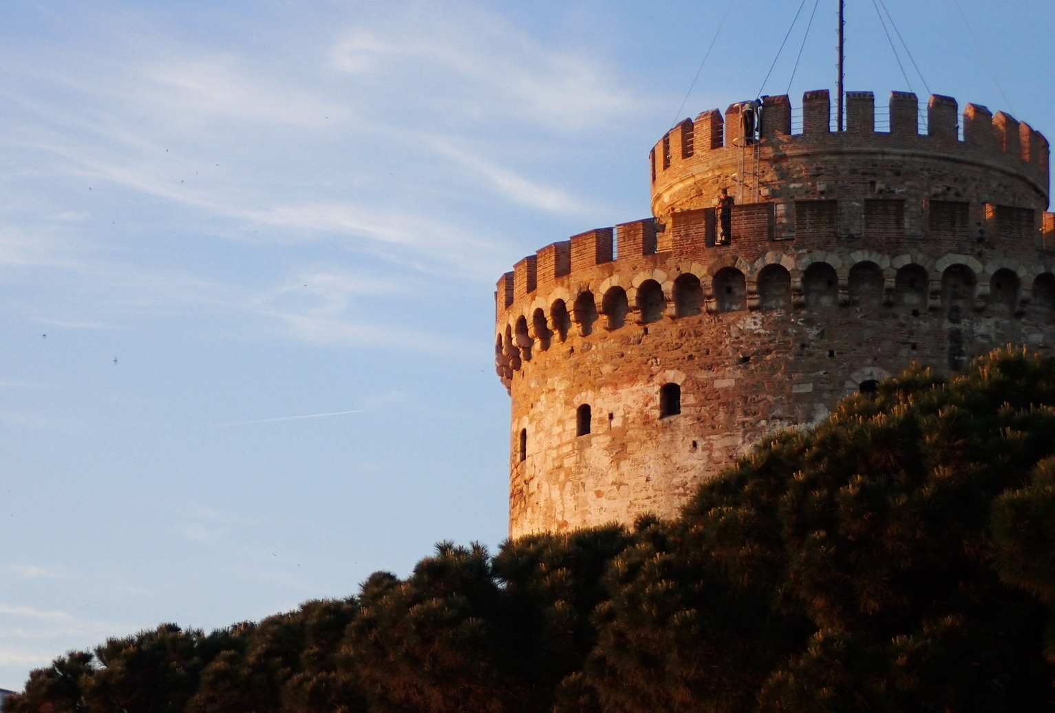 Thessaloniki's White Tower by sunset