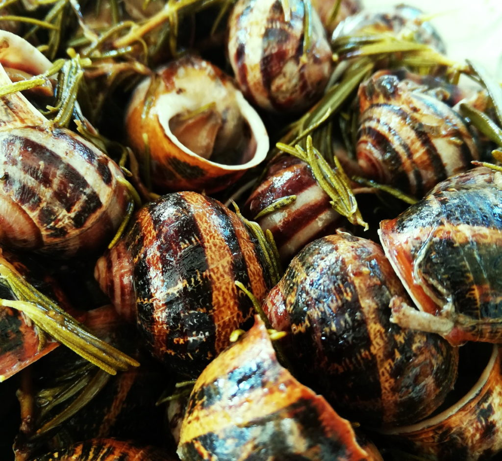Snails with rosemary and vinegar are one of the best Cretan Specialty Foods