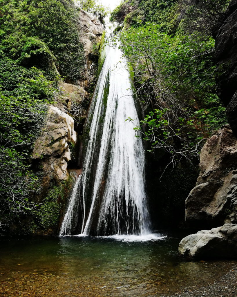 The waterfall in Richtis Gorge in Lasithi