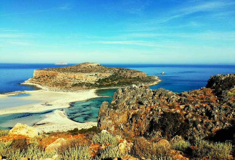 Honeymoon in Crete, Greeceh Balos by boat, but then you would miss this gorgeous view and hike.