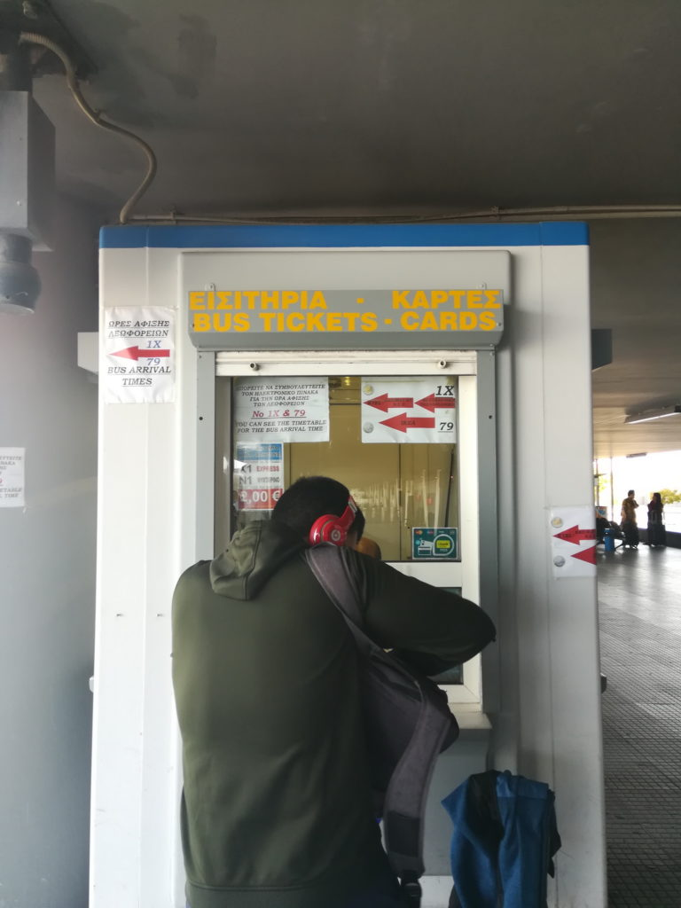 Thessaloniki airport to Halkidiki - You can buy a bus ticket from the booth at the arrivals area