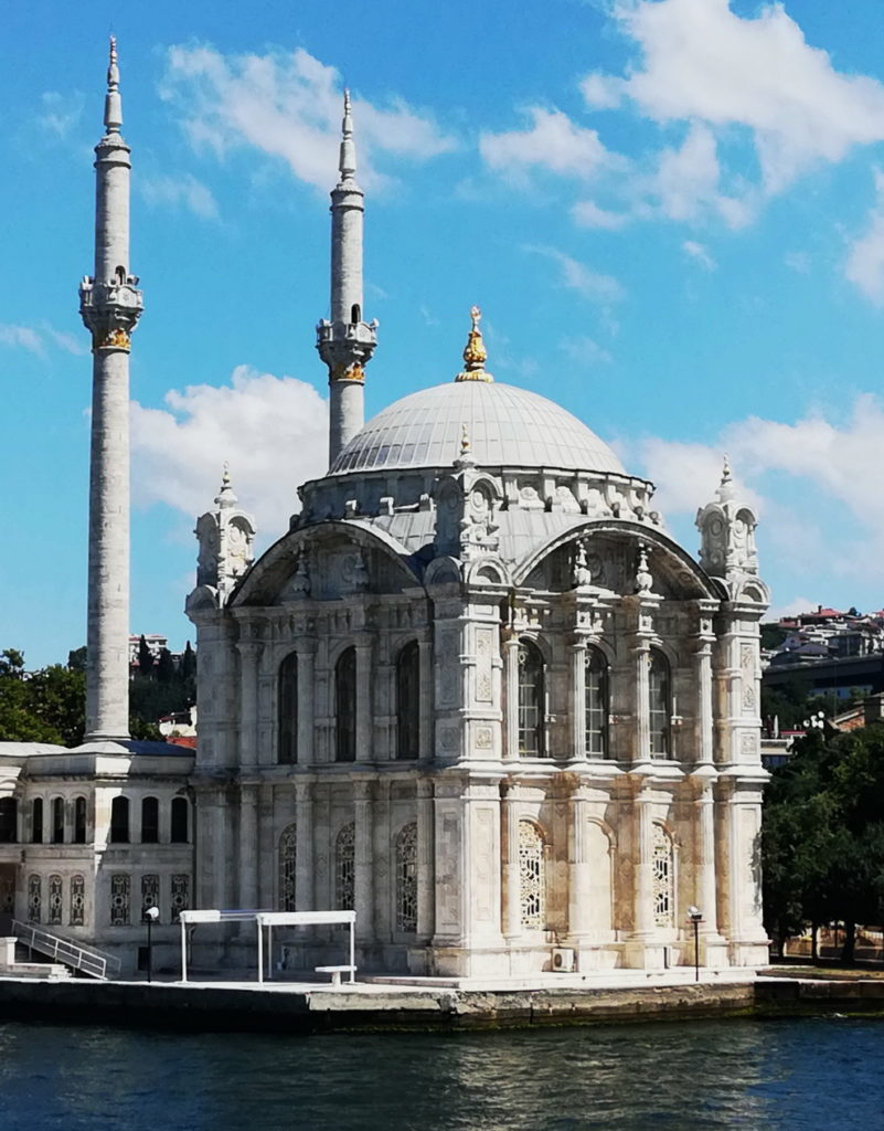 Mosque architecture- The Minarets of the Ortaköy Mosque, on the shores of the Bosphorus