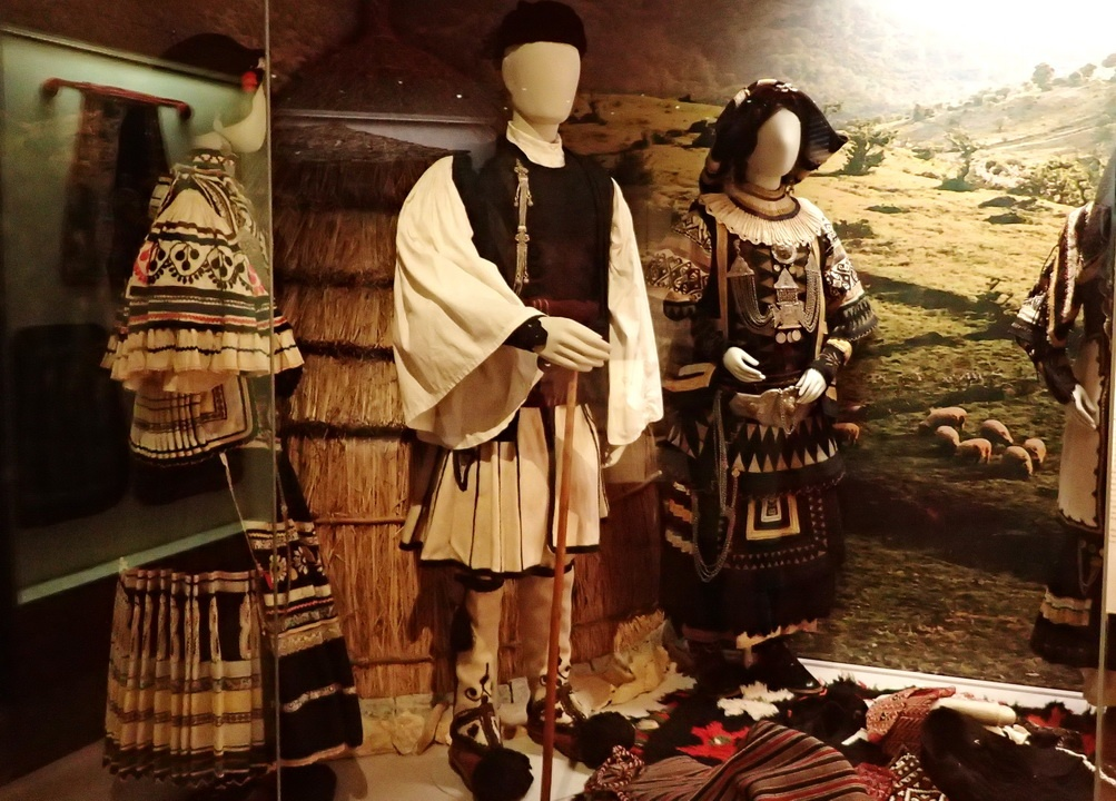 Museums in Thessaloniki- The costumes of the Sarakatsani, an nomadic tribe - suggest the ancient ornamentation of the geometric period