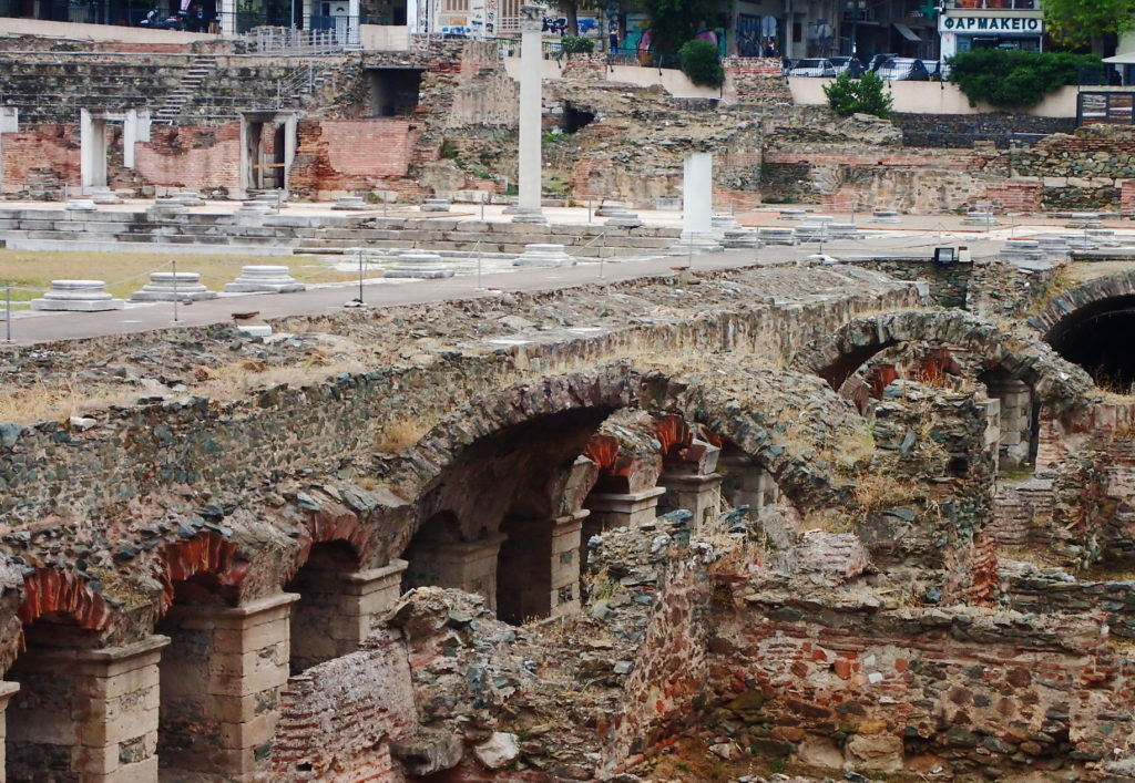 Museums in Thessaloniki :Shops and arcade of the Roman Agora