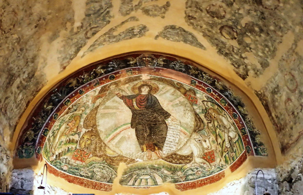 Osios David- Mosaic of the Vision of Ezekiel