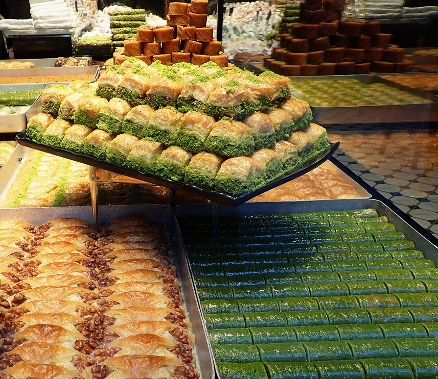 Turkish desserts: The beautiful baklavas of Istanbul come in an array of shapes and flavors