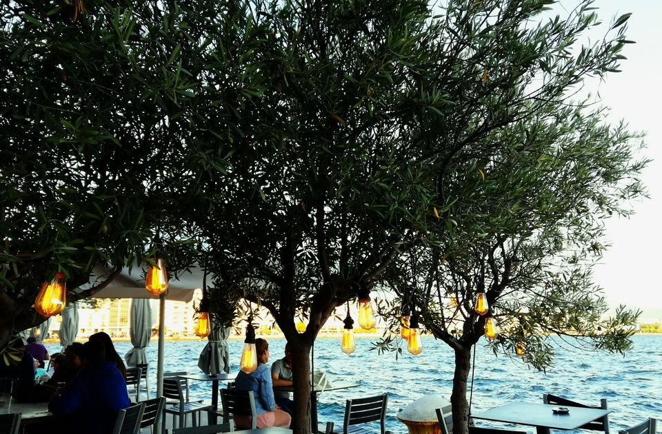 Things to Do in the Port of Thessaloniki - a drink with a view