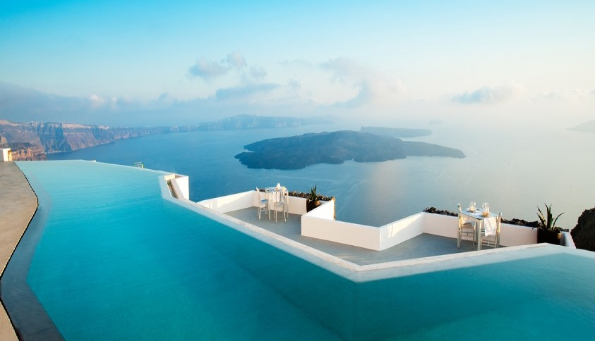 Luxury vacation in Greece