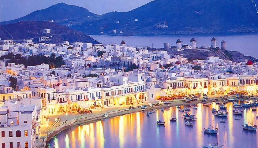 Honeymoon in Mykonos, Greece
