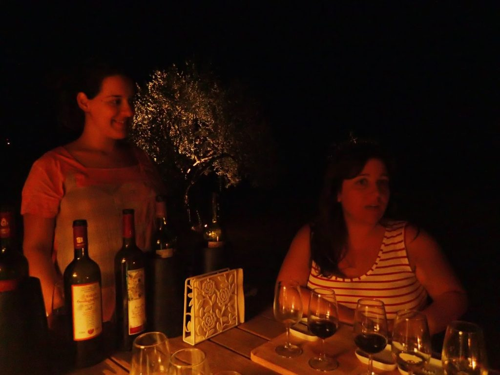 Janet and Marilena aglow in the beauty of the evening.