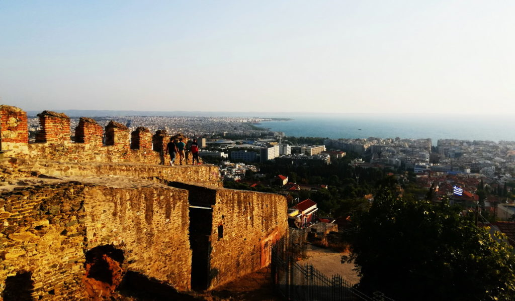Hiking up to the Byzantine City Walls for the sunset view of one of local's favorite activities in Thessaloniki