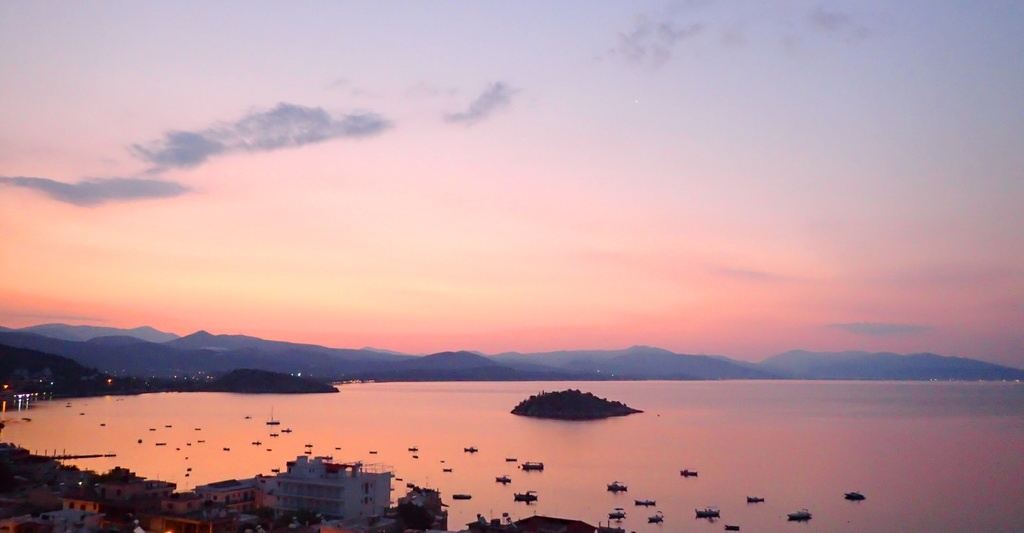 The Bay of Tolo, Greece, at dawn