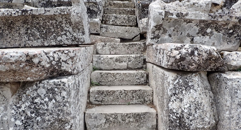 Near Tolo, Greece - The steps of the Ancient Theater of Epidaurus, Argolida
