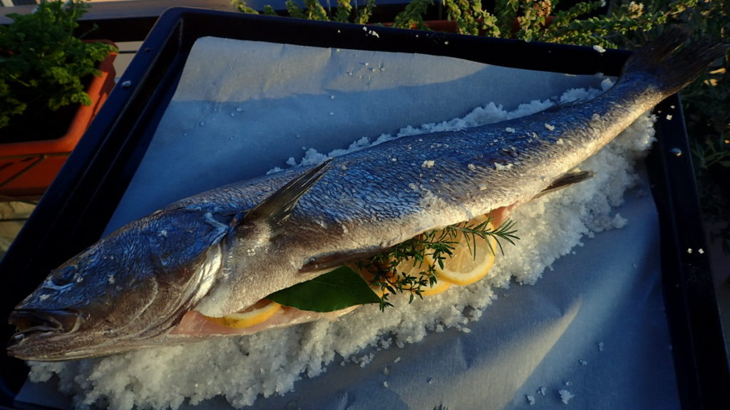Fish on a Bed of Salt for baked fish in a salt crusta