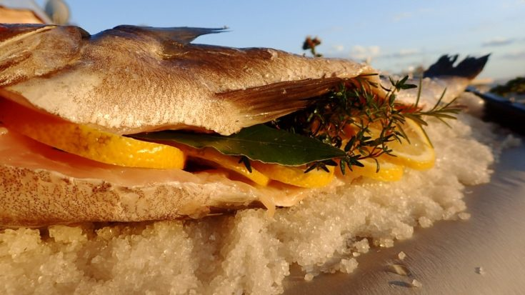 Salt Baked Fish with Herbs