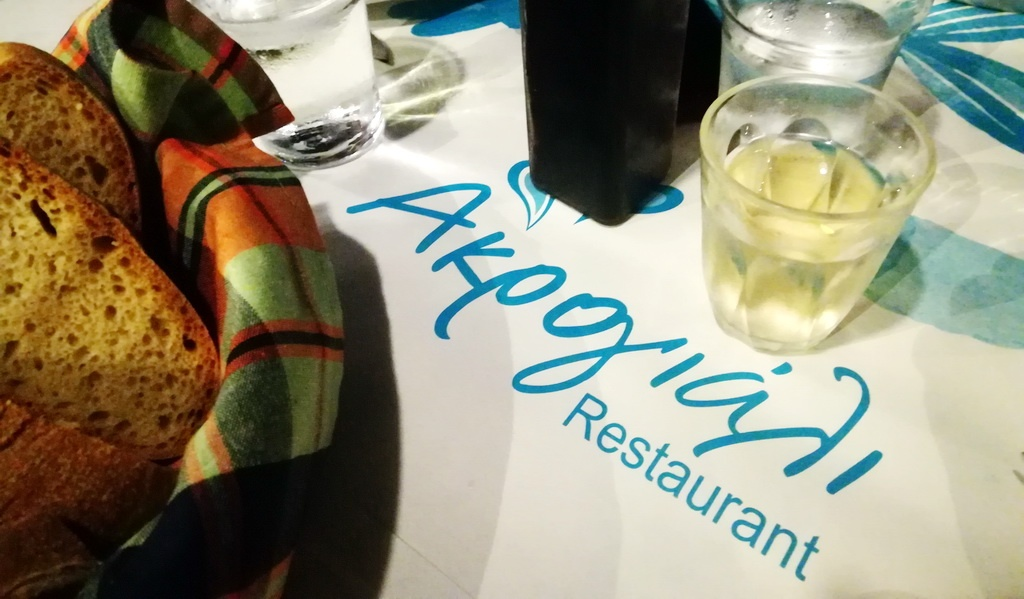 Charming Akrogiali, one of the best restaurants in Tolo,is right on the beach