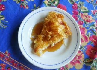 tiropita - cheese pie with honey
