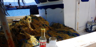 Classic Greek Drinks: Ouzo by the Docks, Molyvos, Lesvos