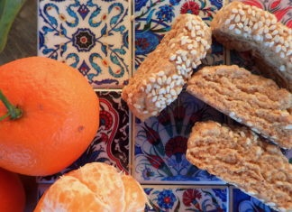 Ladokouloura - Vegan Cretan Sesame and Orange cookies with Olive Oil