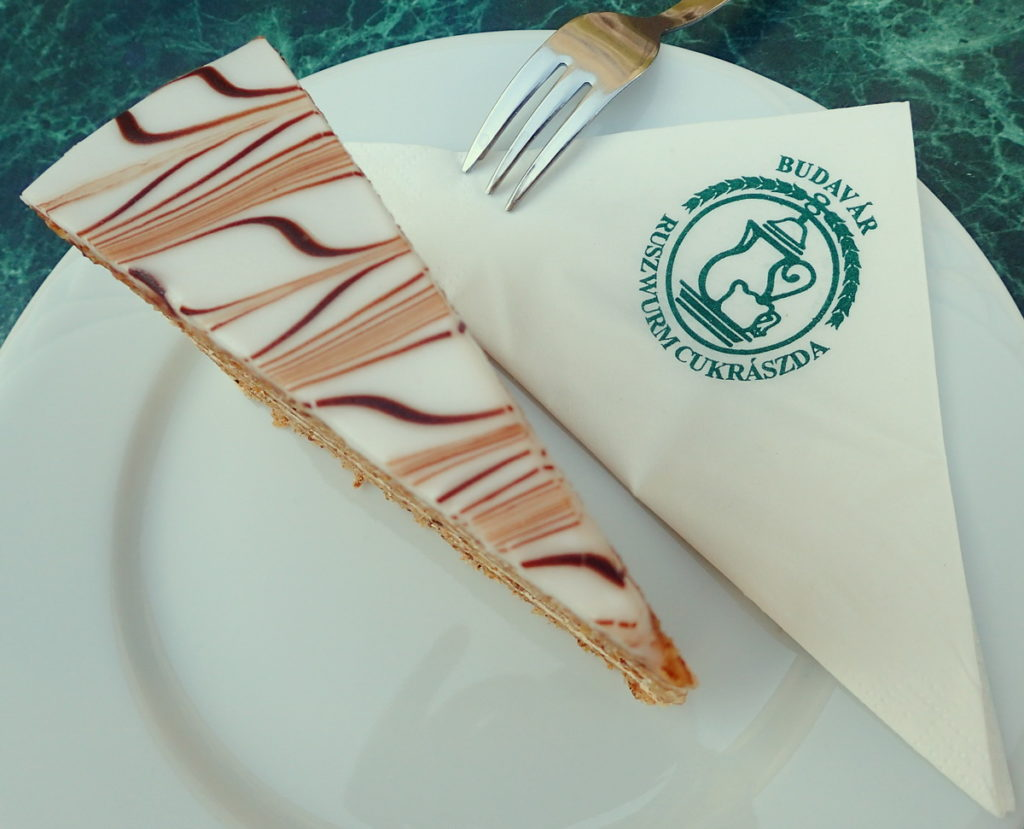 Esterházy torta, with its marbled icing, is among the richest and most refined confections of Budapest