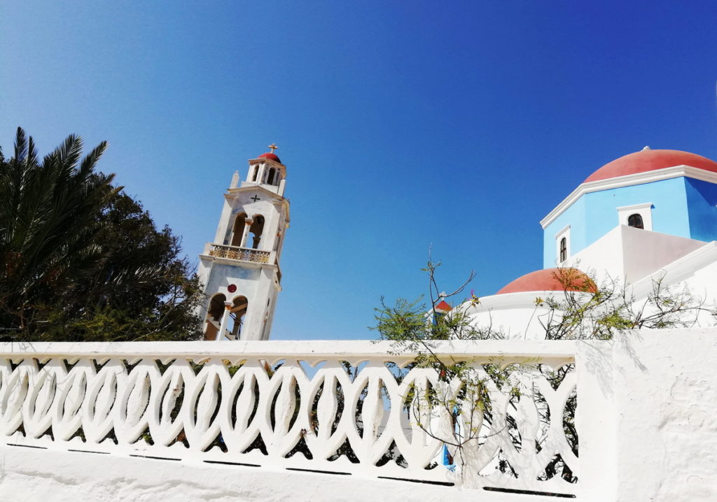 Agios Dimitrios with its bell tower