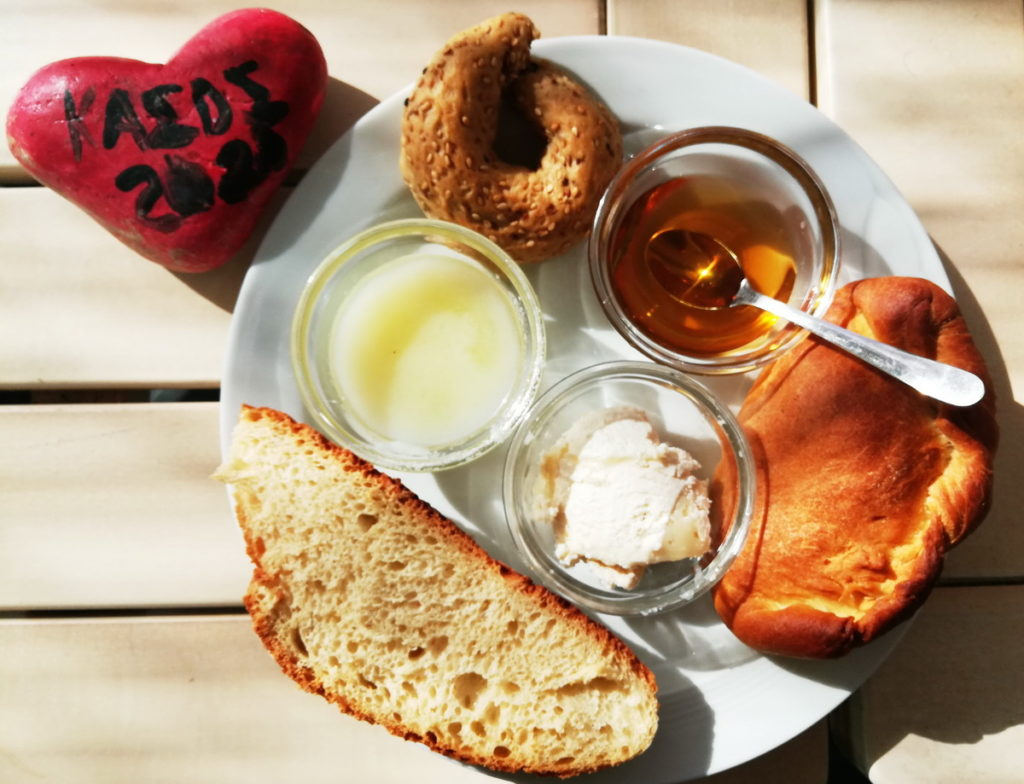 "A Traditional Kasos Breakfast, with ""Sitaka"" and Thyme Honey"