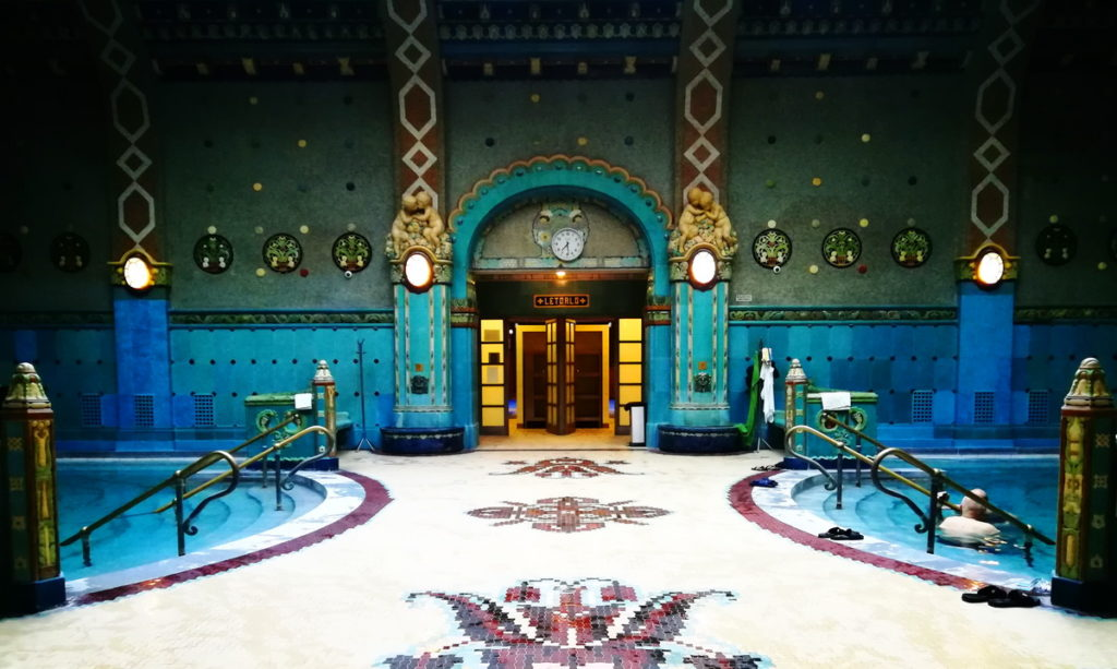 The ornate Zsolnay tiles were custom-cast for the baths