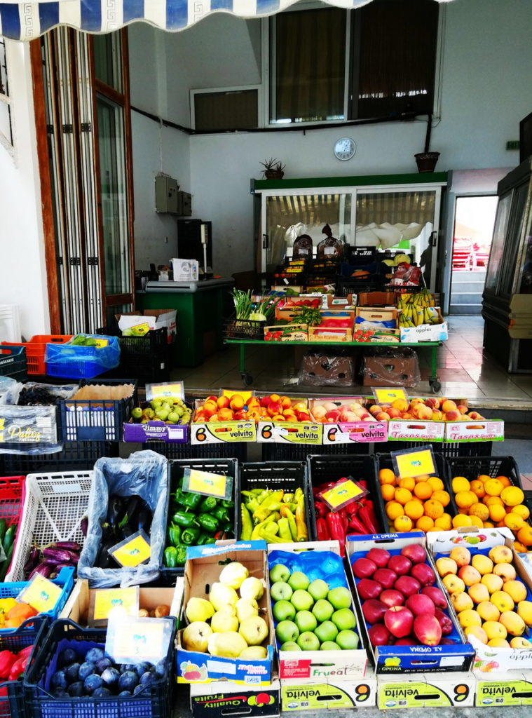 "Kasos has only small shops, like this ""Bakaliko"" - produce market"