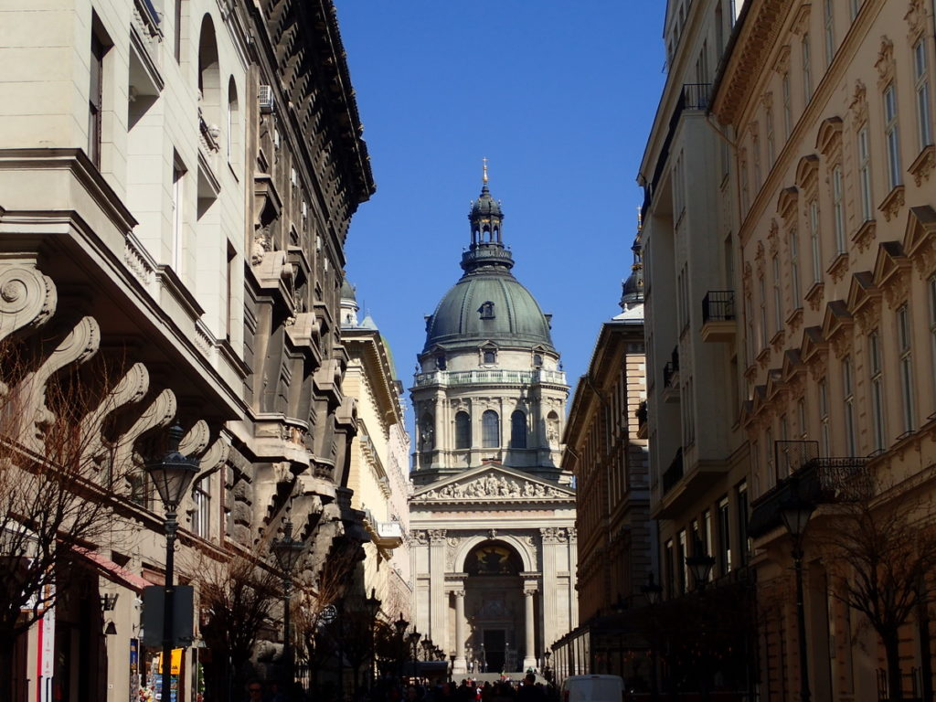 Approaching St. Stephen's Basilica from Szent Istvan ter - 2 or 3 days in Budapest