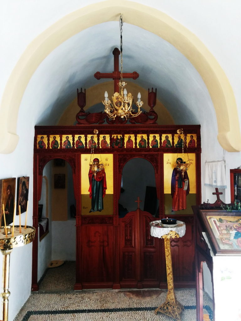 The iconostasis of a simple mountain chapel, Kasos