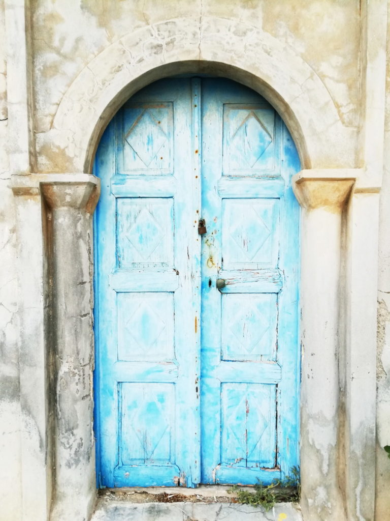 Door to a traditional house, Kasos