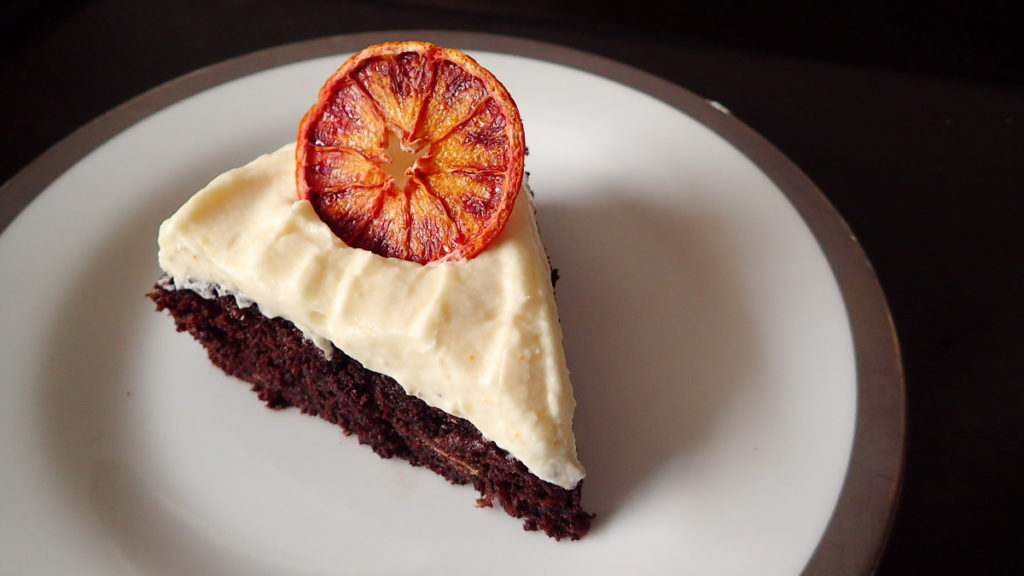 A Slice of Orange Chocolate Cake