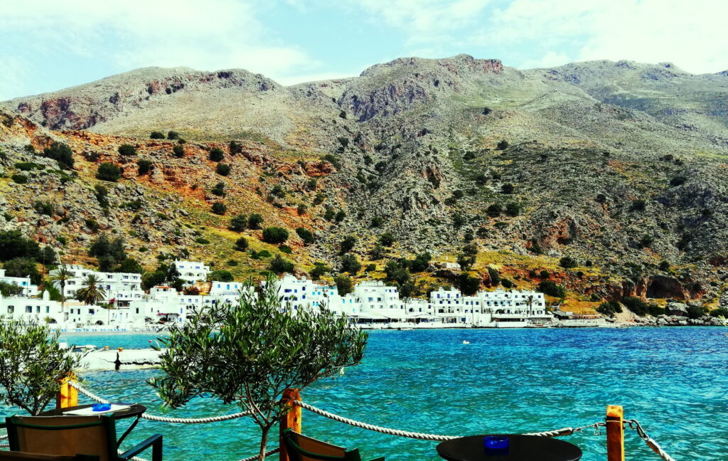 Loutro, Chania Prefecture, is one of the most remote Chania beaches, reachable only by boat