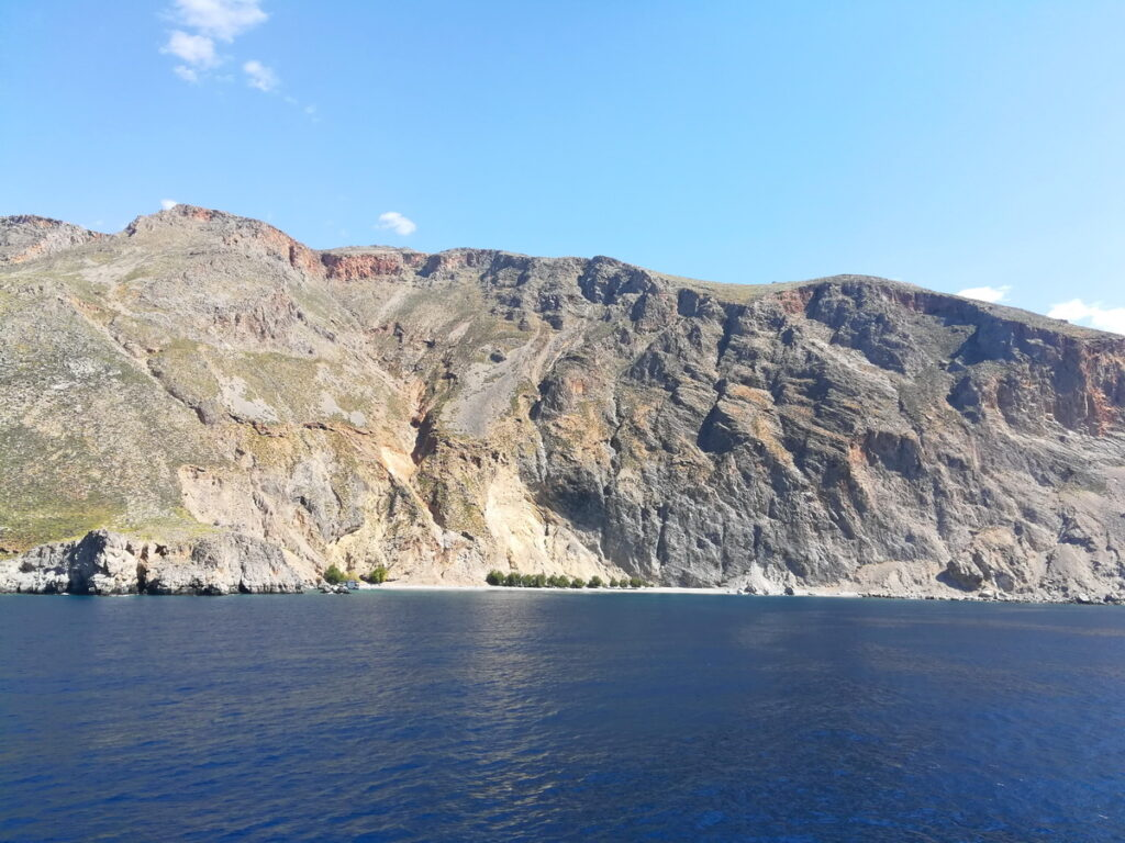 Glyka Nera Beach, as seen from the Ferry from Chora Sfakion to Loutro