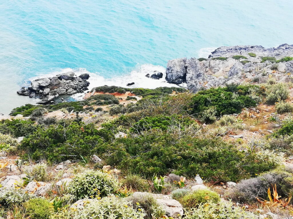 The view of the sea from above - the drive to the Chania Beaches on the south coast is one of the loveliest of Crete