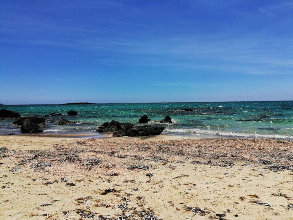 A wild section of Falassarna Beach, Chania Prefecture
